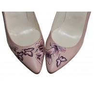 Pantofi pictati manual Butterfly Effect - orice culoare