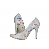 Pantofi pictati manual Happy Flower - orice culoare