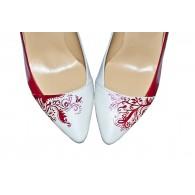Pantofi Pictati Manual Red Stylish Stiletto - orice culoare