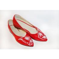 Pantofi Pictati Manual Red Butterfly - Orice culoare