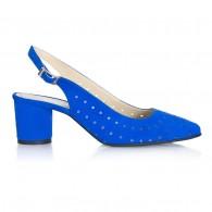 Pantofi Piele Albastru Electric Confort V55 -  orice culoare