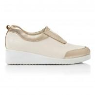 Pantofi Confort Piele Crem Maya V28  - orice culoare