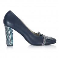 Pantofi Piele Bleumarin Claudine V53 - orice culoare