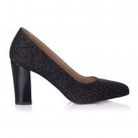 Pantofi Piele Glitter Multicolor Sofia T12 - orice culoare