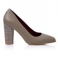 Pantofi Dama Piele Gri  April T30 - Orice Culoare