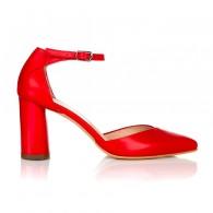 Pantofi Piele Rosu Relax C42- orice culoare