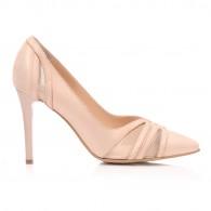 Pantofi Stiletto Piele Nude Plasa C50  - orice culoare