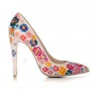Pantofi pictati manual Sweet Flower - orice culoare