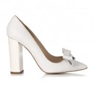 Pantofi Stiletto Toc Gros Alb S1 - orice culoare
