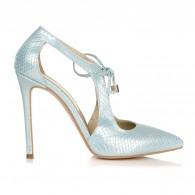 Pantofi Stiletto Argintiu Retro L15 - orice culoare