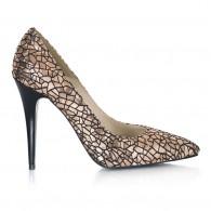 Pantofi Stiletto Auriu Elissa L20 - Orice Culoare