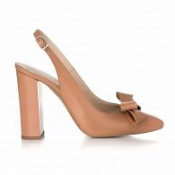 Pantofi Dama Piele Capucino Decupat Arya S22- orice culoare