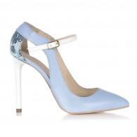 Pantofi Stiletto Piele Bleu S15 - orice culoare