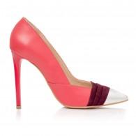 Pantofi Stiletto Piele Corai Amelia S8  - orice culoare