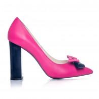 Pantofi Stiletto Toc Gros Fuchsia S1 - orice culoare