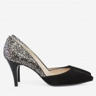 Pantofi Stiletto Piele Lacuita Bordo D60 - orice culoare