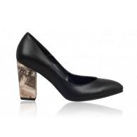 Pantofi Stiletto Toc Gros Negru N12 - orice culoare