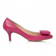 Pantofi Mini Stiletto Funda Piele Roz C62- orice culoare