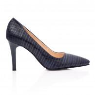 Pantofi Stiletto Piele Bleumarin Presaj C41- orice culoare