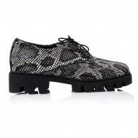 Pantofi Piele Talpa Joasa Snake Iasmin V25 - Orice Culoare