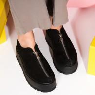 Pantofi Piele Intoarsa Talpa Inalta Fashion V10  - orice culoare