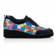 Pantofi Confort Piele Multicolor Maya V28  - orice culoare