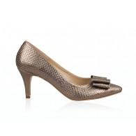 Pantofi Stiletto Piele Bronz Funda N33 - orice culoare
