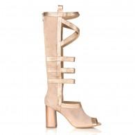 Sandale Gladiator Piele Bej/Auriu C17 - orice culoare
