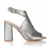 Sandale Piele Naturala Argintiu Elisa C10 - orice culoare
