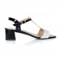 Sandale Piele Alb/Negru Adeline T10 - orice culoare