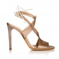 Sandale Piele Auriu Erika Toc Subtire C12 - orice culoare