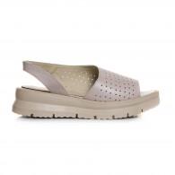 Sandale Dama  Piele Bej Comode Vanya V10 - Orice Culoare