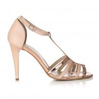 Sandale Piele Auriu Lady Chic S11 - orice culoare