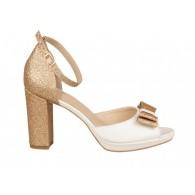 Sandale Mireasa Pile Ivory/Auriu N42 - orice culoare