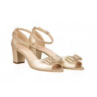 Sandale Dama Piele Auriu Comod Funda  N40 - orice culoare