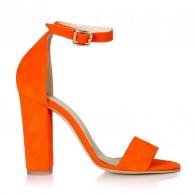 Sandale Piele Portocaliu Color Stylish L2  - orice culoare