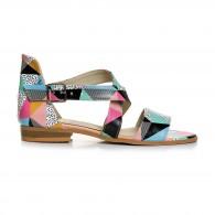 Sandale Dama Talpa Joasa Piele Colorata Mina V9 - Orice Culoare