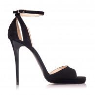 Sandale dama piele intoarsa negru Lola S2 - Orice culoare