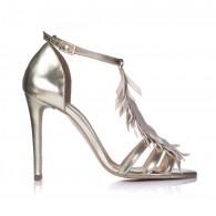 Sandale Dama Piele Argintiu Samantha F17 - orice culoare