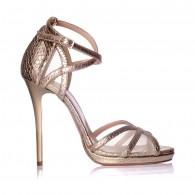 Sandale dama piele snake auriu Andre - Orice culoare