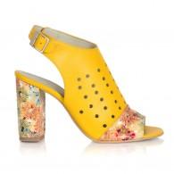 Sandale Piele Galben Vanessa V11  - orice culoare