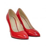 Pantofi stiletto Diva piele lacuita rosu