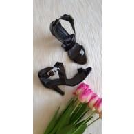 Sandale dama piele lacuita  office V2 Negru -pe stoc