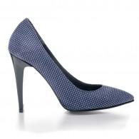 Pantofi Stiletto Bleumarin Buline V10 - orice culoare