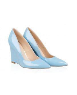 Pantofi Piele Cu Platforma Bleu N20 - Orice Culoare