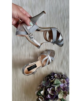 Sandale Dama Piele Argintiu Lucy T5- orice culoare