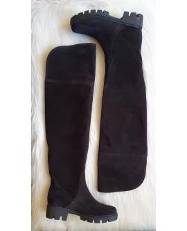 Cizme peste genunchi piele naturala C2