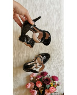 Sandale Dama Piele onduleu  lacuita croco  F26 - pe stoc