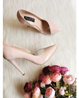 Pantofi Stiletto Lila Banda Silicon L40 - Orice Culoare