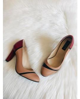 Pantofi Dama Fashion Toc Color S14 - pe stoc